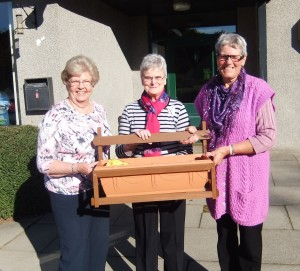 After 19 years as Treasurer Margaret Birnie retired at our AGM in October 2015. She was presented with a flowering bulb trough by Captain Ros Metcalf and Secretary Carol Stevenson